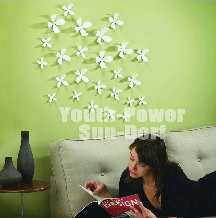 30pcs 3d wall sticker flower home decor decoration for 3d flowers for wall decoration