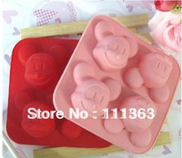 Wholesale DIY Mickey Mouse Silicone Cake Molds,Silicone handmade tool soap mold Mold,Kids Christmas bakeware