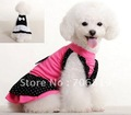 Super-elastic Lycra Big Ribbon Dog Dress in Summer with Dot Embellish