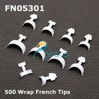 500 Short French Manicure White Wrap Nail Tips In The Style Of  Dashing Diva Nail Wraps Acrylic Nails SKU:A0038