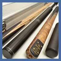 "OMG!! 60"" TOP 3/4 BURL AND EBONY SNOOKER CUE WITH CASE#TSS6"