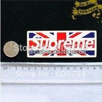 Free ship 2014 Supreme sticker UK flag pattern Cartoon DIY luggage sticker Cute Sticker guitar sticker bike beauty label
