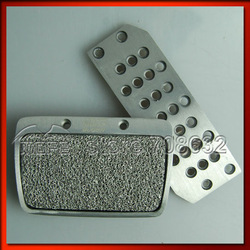 Aluminum Non-slip Mugen Car Pedal Pad for Honda FIT MT Car(China (Mainland))