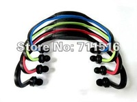 Colorful Wireless Wrap Around Headphones Digital Sport MP3 Player ,Free Shipping