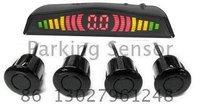 Guaranteed 100% Reverse Sensor Parking Radar New Colorized LED Display Car Parking Sensor System with 4 Sensors + Best Selling