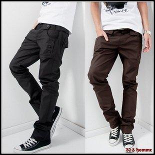 Hot sale2014 autumn  men's long pants slim sport casual double waist design cotton  men sweatpants 3 colors Free shipping