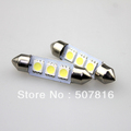 Free shipping special offer 10pcs Car led festoon lamp 41mm 3 SMD 5050 car light