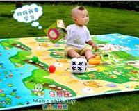 180*100cm Infant Crawling Mat  Baby's Climb Pad PE waterproof Picnic mat Animal fish sea 4 Designs