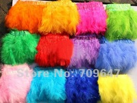 2Meters/Lot 10-15cm 14 Colours Available Turkey Marabou Feather Trim Feather Fringe Free Shipping!