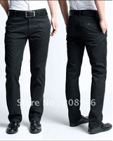 100% cotton black trousers, high quality and free shipping