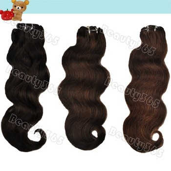 """Long Wavy 16"""" 18"""" 20"""" Clip in Remy Human Hair Extensions Black Brown Color Free Shipping 3150"""