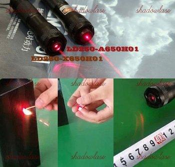 650nm 250mw LD250-X650H01 ASTRONOMY MILITARY Adjustable Focus Red Laser Pointer /cut tape,pop balloon,burn match,light cigarette