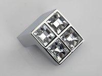 10PCS/LOT Home Improvement Crystal Glass Handle Knob Cabinet Door New (Size.:24*24mm)