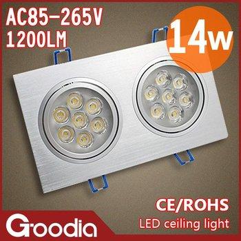 14W high power LED lamp two 7*1W ceiling lights home&commercial indoor lighting hall lights/corridor lamp 110V/220V