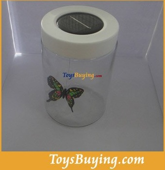 wholesale 20pcs/lot solar butterfly in a jar solar power butterfly box 2012 NEW!+Fedex/EMS FREE shipping