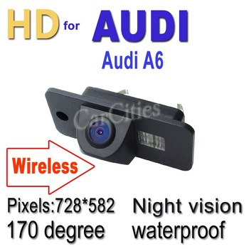 Wireless CCD rearview camera170 degree for Audi A6 Waterproof shockproof Night version Size:70.5*32.5*31.7mm Wholesale