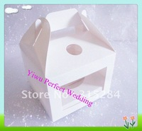 Hot Sales 10x10 Single Cupcake Boxes/cake box with Handle(XY-97B)