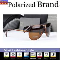 Impact resistant Blue Film Pc Lens Oculos UV400,Stainless Steel Frame Aviator Fishing Mens Sunglasses Polarized Brand Driving