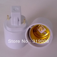 G24 to E27 lamp holder adapter  g24 to e27 light socket converter 100pcs/lot by DHL FREE SHIPPING