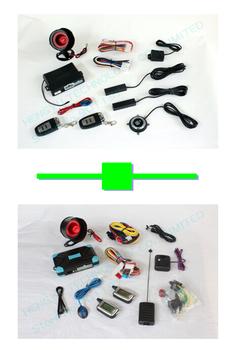 1 pcs push button engine start /PKE car alarm FS-58 keyless go + 1 pcs two way car alarm FM V2 engine start range:1000 meter