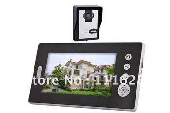 Wholesale - 2.4GHz Wireless 7 Inch Digital TFT LCD Video Door Phone Home Alarm IR Camera Intercom System