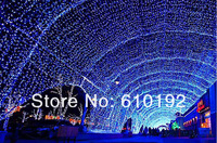 50pcs/lot 220V or 110V led light string chrismas Garden light 10M 100 bead,with 8 Display Modes and connector DHL free shipping