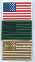 "Wholesales 50pcs/lot Embossed PVC patch ""US FLAG"" patch with velcro back NEW PRODUCTION"