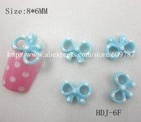 Free Shipping 200pcs/bag  Blue Color Resin Scissor Bowknot Nail Art Decoration Cellphone Decoration Bow Decoration