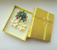 Free shipping, Jewelry boxs wholesale, 8*6.5*2cm gold many USES of gift box .
