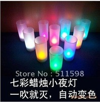 New Style,colorful sonic Led candle lights, Bar/Club lighting,Tea lights