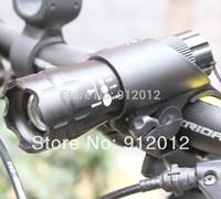 Free shipping 1Set 808A Bicycle led Light 5 Watt 300-500 Lumens CREE Q5 LED Bike Light Black Bicycle Front Torch+Torch Holder