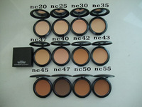 factory direct!200 Pieces/Lot New 15g studio fix powder plus foundation!NC20.25.30.35.37.40.42.43.45.47.50.55