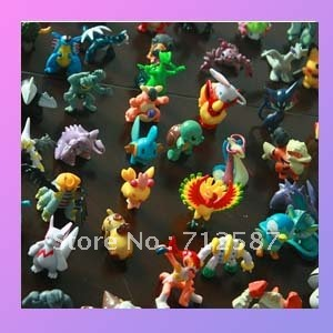 free shipping for 100 pieces of  Pokemon Action Figures 2-3cm  at random #8379
