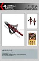 Orignal 2XJ Crimson Talon XT 6-Blade Broadhead hunting broadheads tips arrowheads in orignal package  free shipping 300pcs/lot