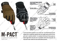 No.3940 Mechanix Wear M-Pact Original gloves Mechanic Protection safety glove work working fabric glove Black M/L/XL