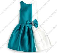 girl princess dress new 2015 fashion Diamond children dress Bow dress for parties dressed de menina ropa ninas vestidos verano