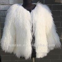 YR-615 Women's Fashion style genuine mongolia lamb fur jacket ~wholesale~retail~Customized