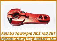 Adjustable Heavy Duty RC Steering Servo Half Arm 25T Torque Metal MG995 996 RED x10pcs