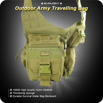 Durable Nylon Military Outdoor Army Travelling Bag with Adjustable Single Shoulder Strap RH-D0017 ,Free Shipping