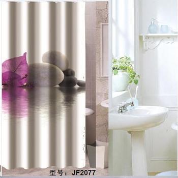 Bathroom products Fabric Shower Curtain 180x200cm bath curtain bathroom curtain shower  purple and grey stone curtain