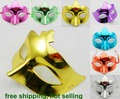 80pcs/lot PVC colorful plated shining party mask new welding party gift fashion masquerade party props