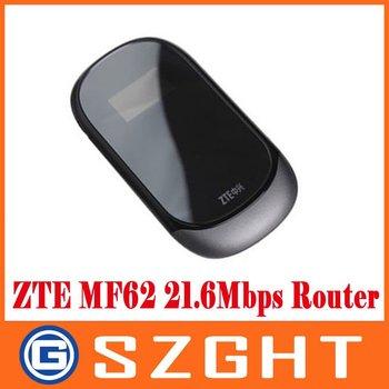 Unlock Wireless Wifi 4G Modem ZTE MF62 Mifi Wifi 21M 3G Router 150Mbps 5 Users Supports Battery 1500MAH HK post free shipping