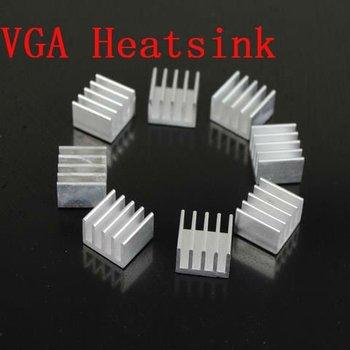 Free Shipping 100pcs /lot Silver Aluminum Heastink   VGA Card  Xbox 360 RAM Memory  Heat Sink cooler Cooling 14x13x9 MM