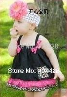 115 Free Shipment Fashion Baby Suits,Baby Dress+pants 4pcs/lot Wholesale