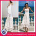 YW-12061180 casual beach front short and long back wedding dress(China (Mainland))