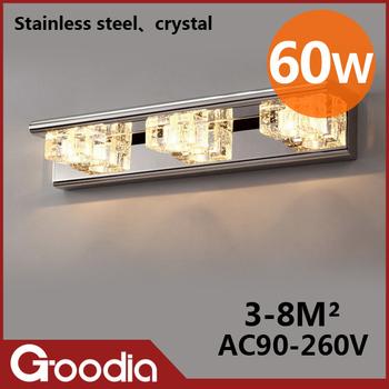 Crystal Bathroom Lighting on And Elegant 60w Bathroom Lamp Ac90 260v Stainless Steel   Crystal