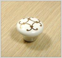 10Pcs  Furniture Accessories Ceramic Kitchen Cabinet And Furniture Door Knobs(Diameter:38mm)