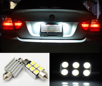 2pcs/lot Festoon 36mm 6 SMD 5050 Canbus Error Free Car LED Dome License plate Light Interior White 6411 6418 6423 6461