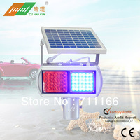 2013 New Arrival Aluminium Alloy Material Red And Blue Model Solar Flashing /Warning Light