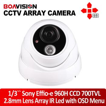 CCTV Camera IR Array 700TVL Dome Outdoor Waterproof CCTV Camera 2.8mm Lens with OSD menu